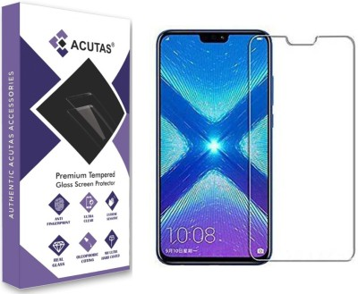ACUTAS Tempered Glass Guard for Huawei Y9 2019 (Transparent)-Full Screen Coverage (Except Edges) with Easy Installation kit(Pack of 1)