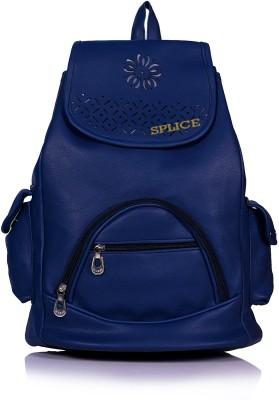RIDGEWOOD PU Leather Backpack School Bag Student Backpack 6 L Backpack Blue RIDGEWOOD Backpack Handbags