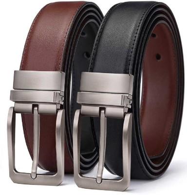IHP Men Formal, Casual Brown, Black Genuine Leather Reversible Belt