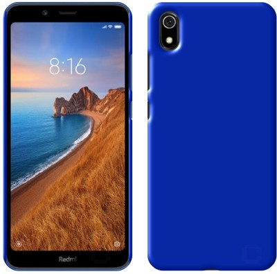 Case Creation Back Cover for Xiaomi Redmi 7A Branded Luxury Rubberised Matte Hard Case Back Cover(Dark Shinny Blue, Dual Protection)