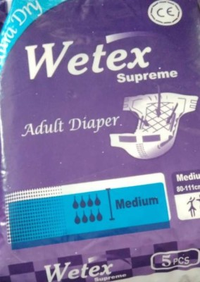 WETEX adult diaper M Adult Diapers   M 5 Pieces