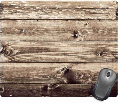 Golden Feather Anti Skid Wood Pattern Designer Mouse pad for laptops and Computers Designer Mousepad 11 Mousepad(Multicolor)