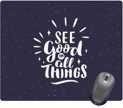 Golden Feather Anti Skid Motivational Quote Printed Mouse pad for laptops and Computers Designer Mousepad Mousepad(Multicolor)