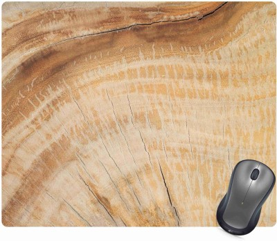 Golden Feather Anti Skid Wood Pattern Designer Mouse pad for laptops and Computers Designer Mousepad 3 Mousepad(Multicolor)