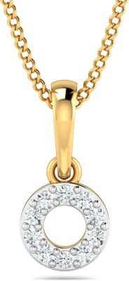 P.N.Gadgil Jewellers Cool Circular 22kt Cubic Zirconia Yellow Gold Pendant
