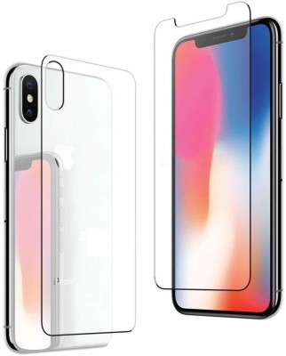 Case Creation Front and Back Screen Guard for Apple iPhone X(Pack of 2)