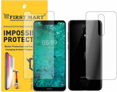 FIRST MART Front and Back Screen Guard for Nokia 5.1 Plus, Nokia X5(Pack of 2)