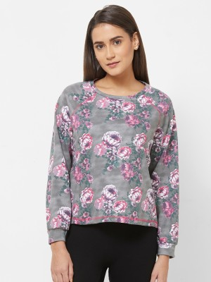 Mystere Paris Full Sleeve Floral Print Women Sweatshirt