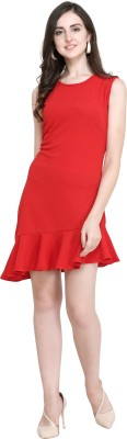 Women Sheath Red Dress