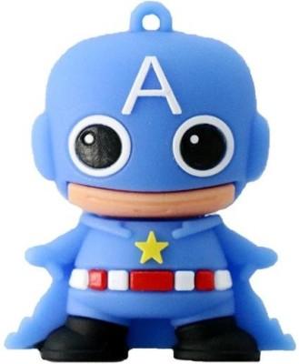 PANKREETI PKT1113 Captain America Cartoon Designer 32  GB Pen Drive Multicolor PANKREETI Pen Drives