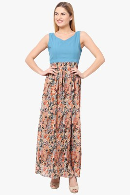 The Vanca Women Fit and Flare Multicolor Dress
