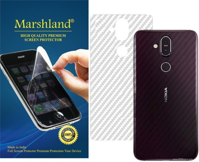 Marshland Back Screen Guard for nokia 8.1, 3D Carbon Fiber Back Screen Protector Anti Scratch Transparent(Pack of 1)