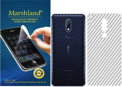 Marshland Back Screen Guard for Nokia 5.1 Plus, transparent, Back Screen Protector, 3D Carbon Fiber Flexible(Pack of 1)