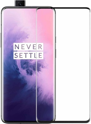 SHRINO Edge To Edge Tempered Glass for Shrino 6D Screen Protector Full Glue [Scratch Resistant] [HD+ View] [Crystal Clear] 6D Tempered Glass for OnePlus 7 PRO/ 1+7 PRO - (Black)(Pack of 1)