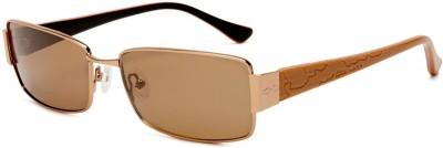heat Aviator Sunglasses(Brown)