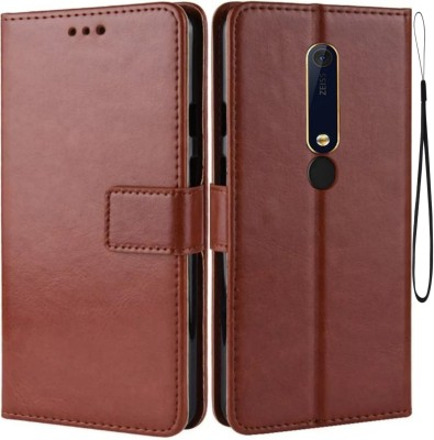 iPaky Flip Cover for Vivo Y81, Vivo 1803/PD1732BF(Brown, Maroon, Cases with Holder)