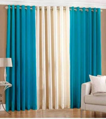 HHH FAB 213 cm (7 ft) Polyester Curtain (Pack Of 3)