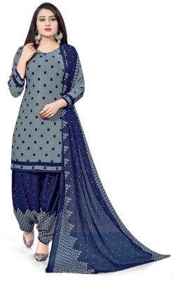 Giftsnfriends Crepe Printed Salwar Suit Material(Unstitched)