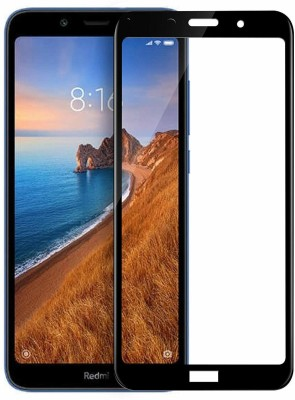 RidivishN Edge To Edge Tempered Glass for Redmi 7A(Pack of 1)