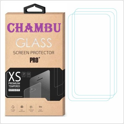CHAMBU Edge To Edge Tempered Glass for NOKIA ASHA 202(Pack of 3)