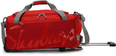 Skybags  Expandable  SWING DFT 55 CHERRY RED Duffel Strolley Bag