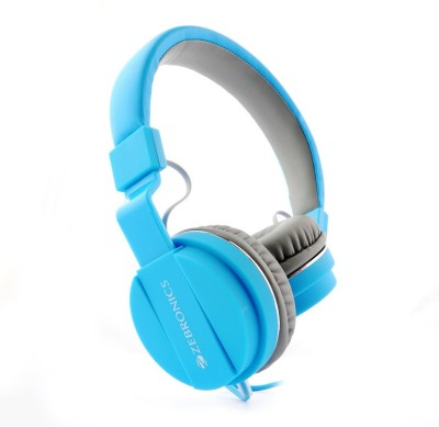Zebronics Storm Blue Wired Headset without Mic(Blue, Wired over the head)