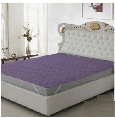 RRC Elastic Strap King Size Waterproof Mattress Protector(Purple)
