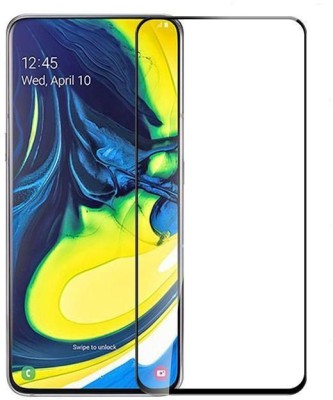 ajd Edge To Edge Tempered Glass for Samsung A 80(Pack of 1)