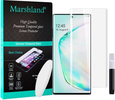 MARSHLAND Tempered Glass Guard for Samsung Galaxy Note 10 Plus UV Protection(Pack of 1)