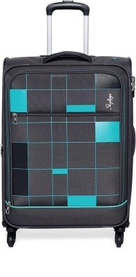 Skybags HEADLINE STR EXP 4 WHEEL 71 GREY Expandable Check in Luggage   27 inch