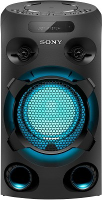 Sony MHC-V02 with LED Light & Karaoke Bluetooth Party Speaker(Black, 2.0 Channel)