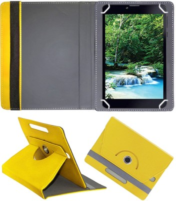 Fastway Flip Cover for iBall Slide Spirit X2 Tablet 7 inch(Yellow, Cases with Holder)