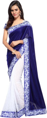 Shree Creation Embroidered Bollywood Velvet Saree Blue