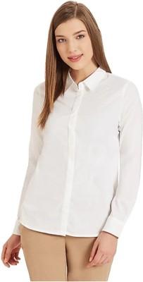 FlyingBird Women Solid Formal White Shirt FlyingBird Women's Shirts