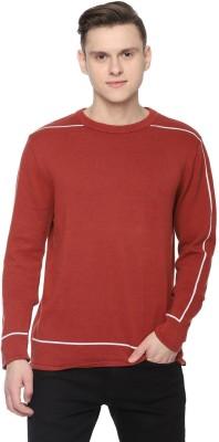 Allen Solly Solid Crew Neck Casual Men Red Sweater