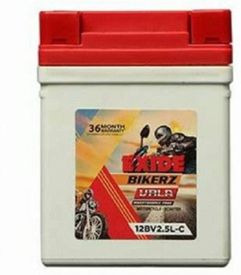 Exide E 01 2.5 Ah Battery for Bike Exide Two Wheeler Batteries