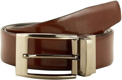 cyclone Men Formal Brown Genuine Leather Belt