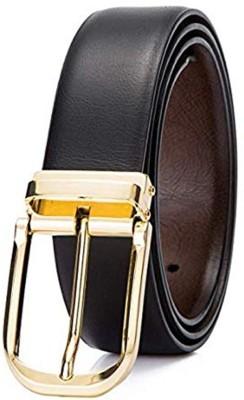 cyclone Men Formal Black Genuine Leather Belt