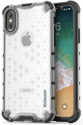 Wellpoint Back Cover for Apple iPhone XS, Plain, Case, Cover, Appple X, Apple iPhone X(Transparent, Grip Case)
