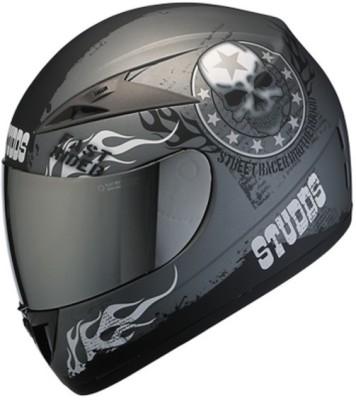 STUDDS Scorpion D3 MR Motorbike Helmet(Matt Grey)