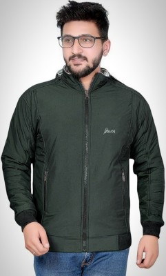 Azmani Full Sleeve Self Design, Solid Men Jacket
