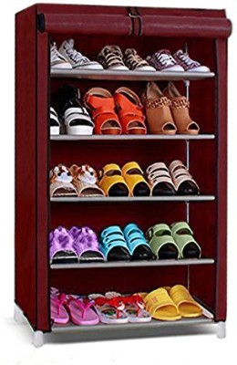 Ebee 4 Rack Metal Shoe Stand(Blue, 4 Shelves)