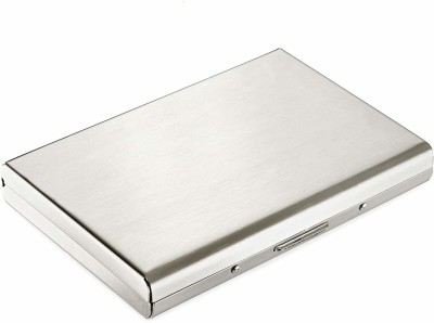SIHMAR Steel Plain Executive Silver ATM 6 Card Holder 8 Card Holder(Set of 1, Multicolor)