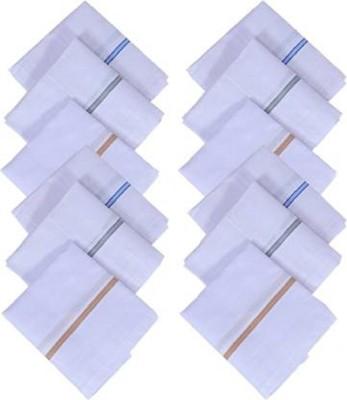 Johnnie Boy Premium Striped Handkerchief For Men Handkerchief (Pack of 12) Handkerchief(Pack of 12)