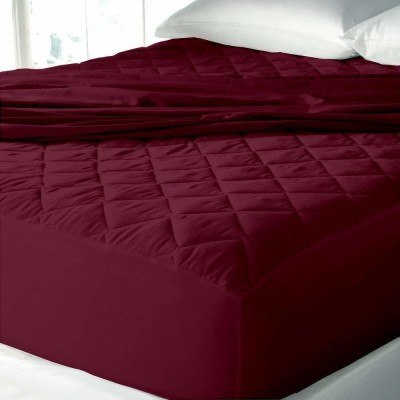 AVI Fitted King Size Waterproof Mattress Protector(Maroon)