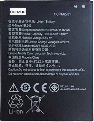OONZOO Mobile Battery For LENOVO Lenovo A7000