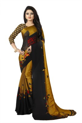 Nilesh Fab Printed Daily Wear Art Silk Saree Mustard