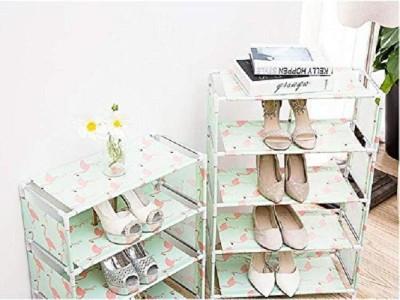 Yutiriti 4 Tier Leightweight Shoe Book Storage Rack Household Organizer - 45x25.5x55.5 cm Plastic Shoe Stand(4 Shelves)