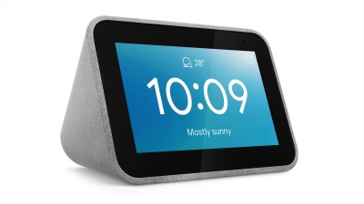 Lenovo Smart Clock with Google Assistant Smart Speaker (Grey)