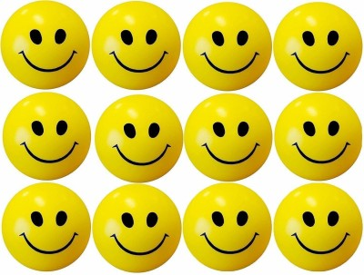 HEZALWOOD Presenting the Best Smiley Face Squeeze Stress Ball b2   Set of 12   3 inch   3 inch Yellow HEZALWOOD Soft Toys